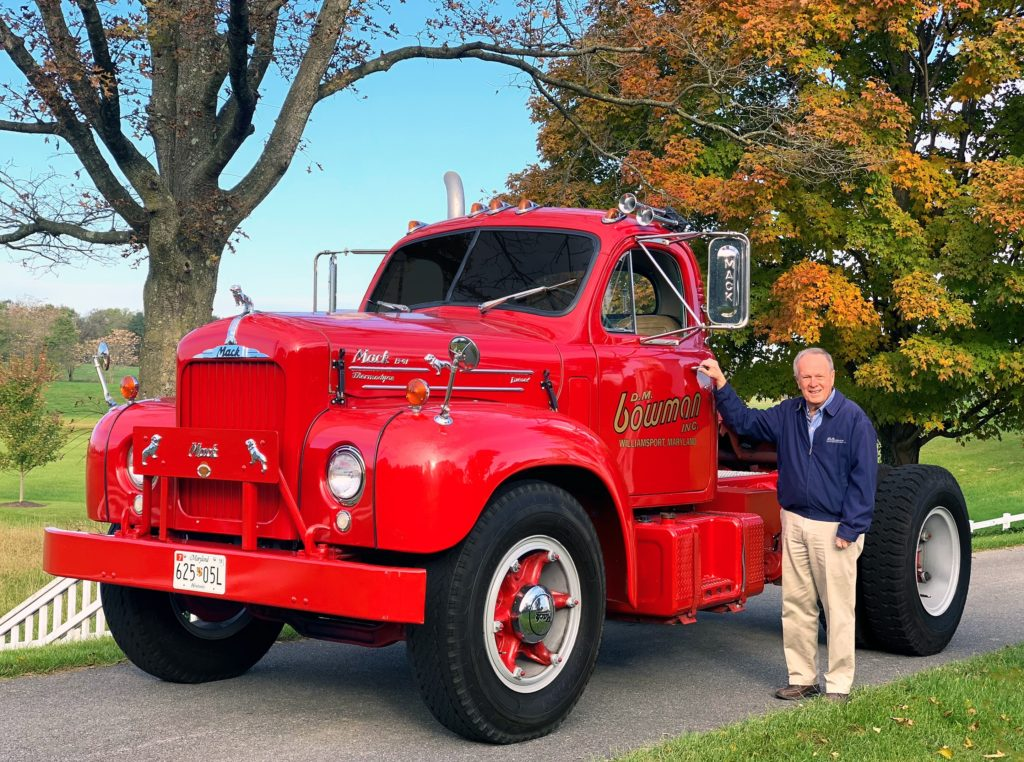 Don Bowman with Mack