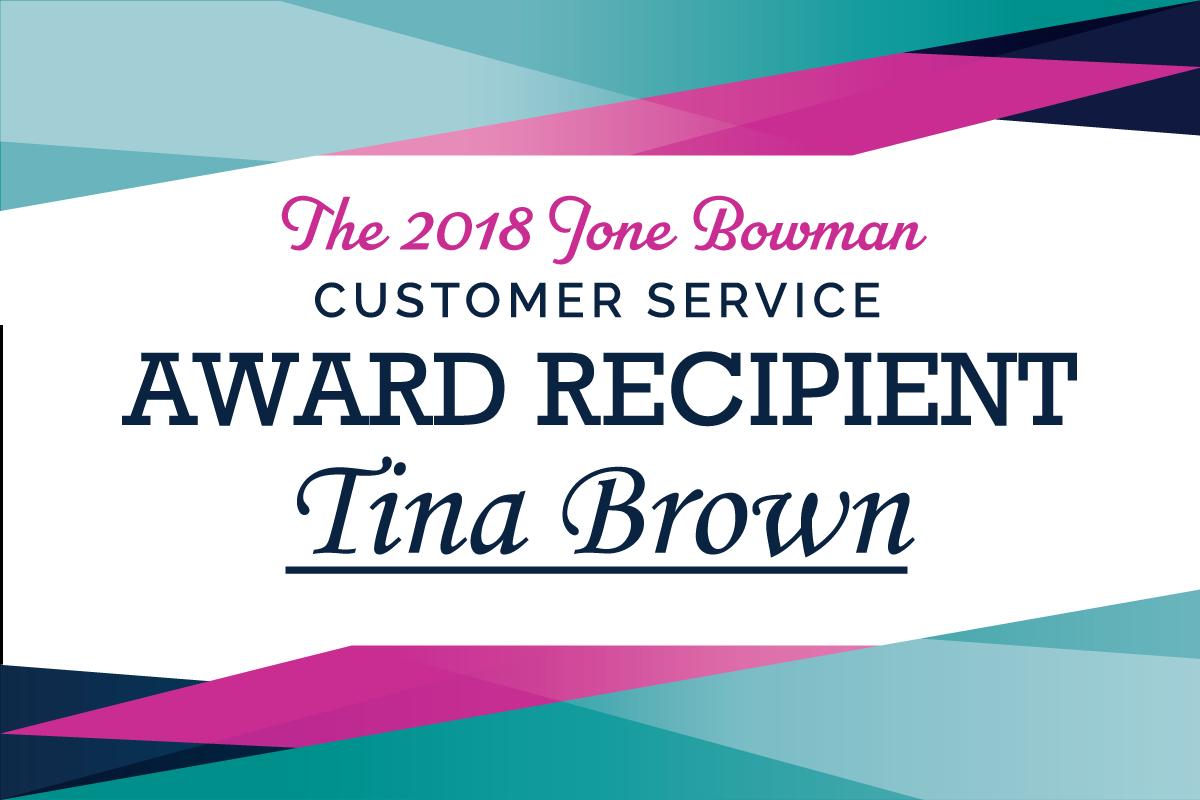 2018 Jone Bowman Award Recipient