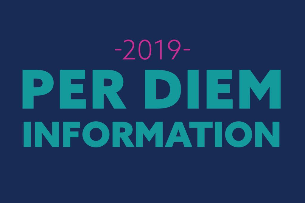 2019 Per Diem Information