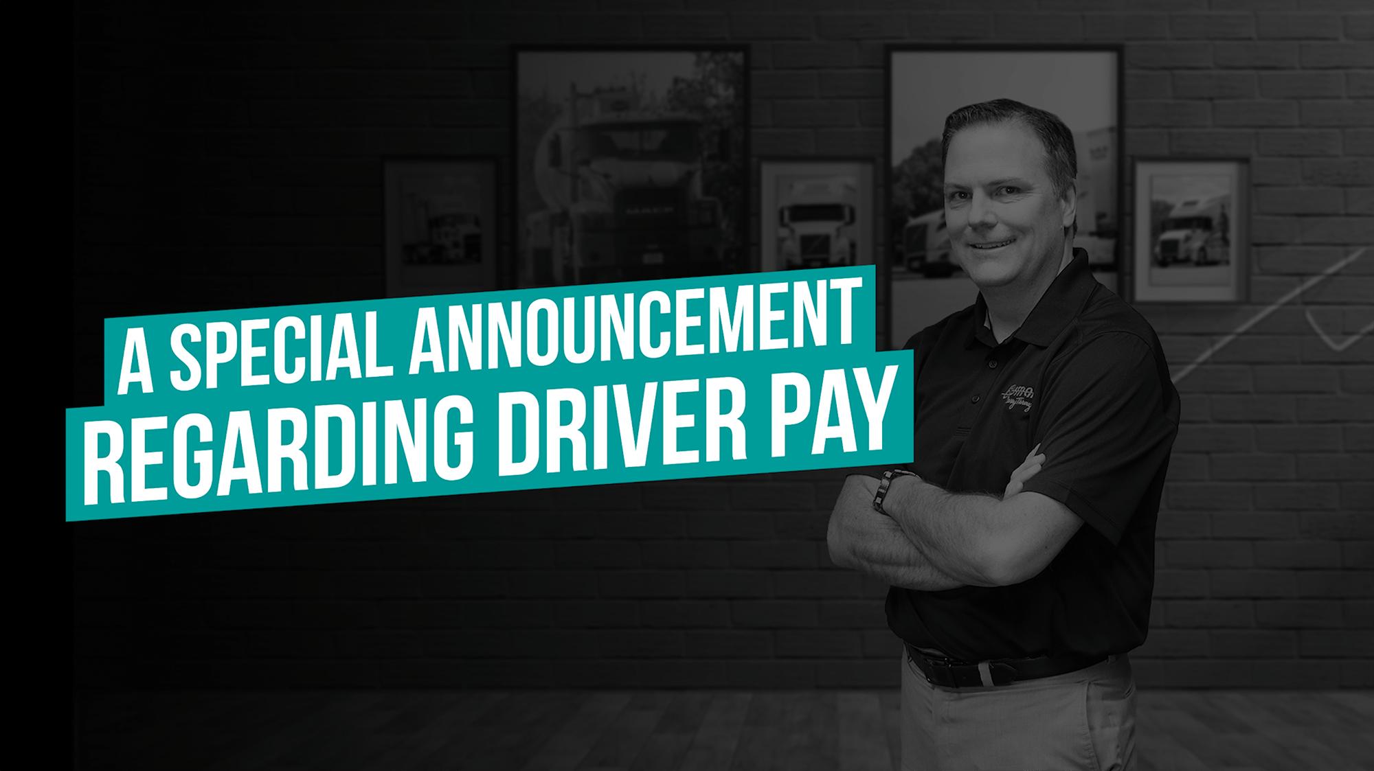 Driver Pay Increase